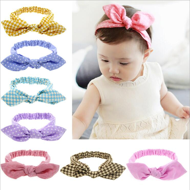 JRFSD New Cute Headbands Flower Bow Girls Hair Bands Turban Rabbit Bowknot Headband Headwear HairBand kids hair Accessories jrfsd 1pcs hot sell girls headband with 3 or 6 flower pearl diamond hair bands headbands for girl elastic kids hair accessories