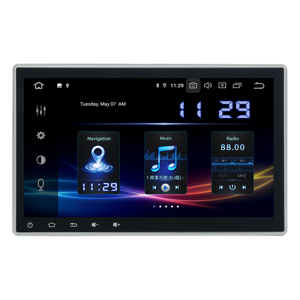 1 Din Car Radio Stereo GPS Universal Headunit Audio forToyota Nissan KIA Car Radio Tape Recorder IPS 8 Core 4+64G build-in DSP image