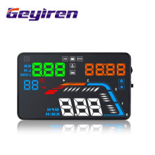 GEYIREN 5.5'' OBDII Car HUD OBD2 Port Head Up Display Q700 Speedometer windshield projector auto hud head-up display a100 hud hot a8 hud auto diagnostic scanner car head up display car detector speed projector on windshield hud display car with obd2
