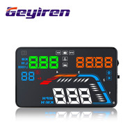 GEYIREN 5.5'' OBDII Car HUD OBD2 Port Head Up Display Q700 Speedometer windshield projector auto hud head up display a100 hud