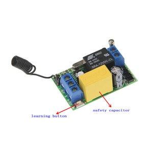 Image 2 - 3000 m ארוך מרחק AC 220 v 1 CH 1CH ממסר RF מתג שלט רחוק 2CH משדר + מיני 10A מקלט 315/433, בין מנעול