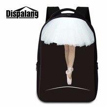 Dispalang симпатичные девушки балета печать большой емкости женщины школа рюкзаки школа книга сумка для ноутбука bagpack mochila эсколар