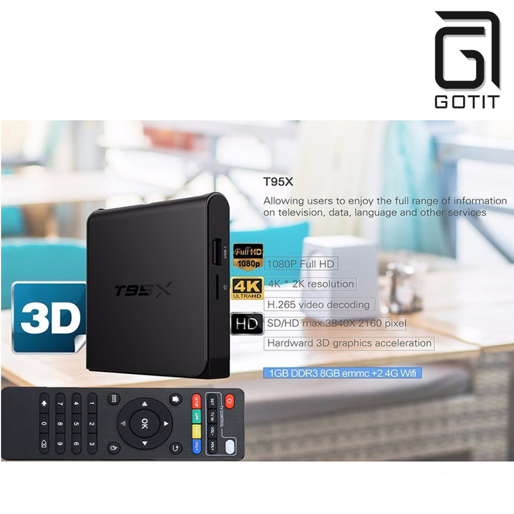 S905X T95X Android 6.0 TV Box Amlogic Quad Core 4 K H.265 XBMC HDMI2.0 2.4G wifi