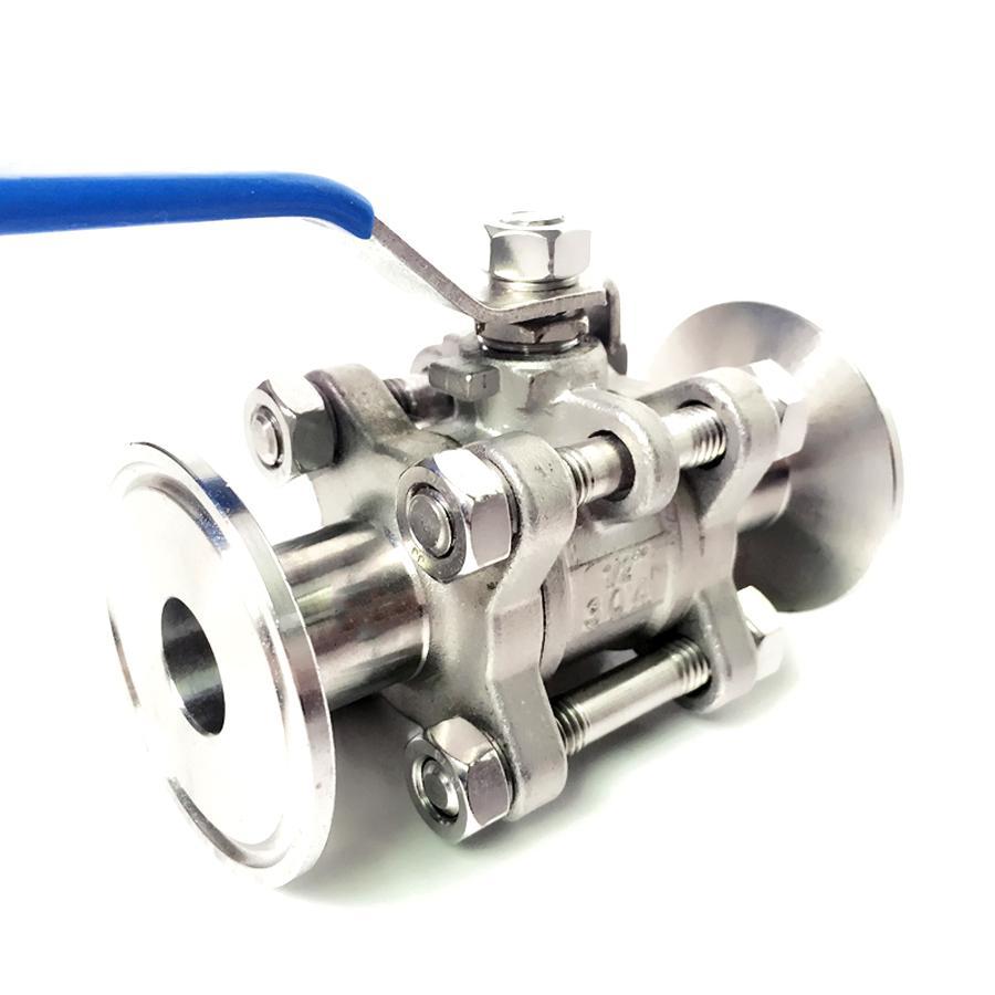 Dn20 X 1,5 tri Clamp 3-stück Ball Abschaltung Ventil Sus 304 Edelstahl Industrie GroßE Vielfalt Sanitär