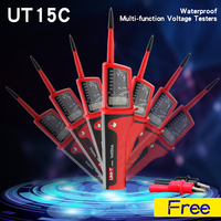 Waterproof voltimetro voltage meter electrician diagnostic tool, UT15C Voltage Testers voltmeter
