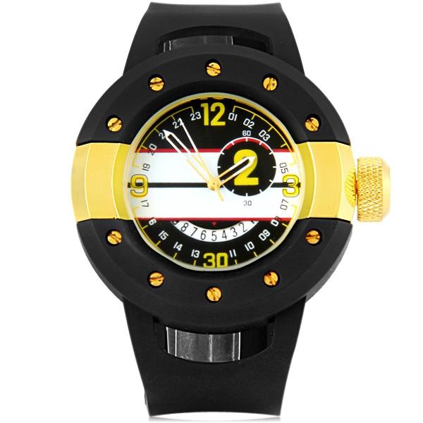 Clearance Brand Casual Men's Fashion Creative Design Men's And Women's Sports Silicon Watch Quartz Calendar Watch