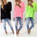 Women's Casual Loose Pullover Shirt Long Sleeve Tops Shirt Blouse Tunic Dress