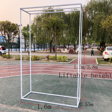 Wrought Iron Wedding Background Shelf Stage Decoration Folding Bracket Direct Commercial Advertising