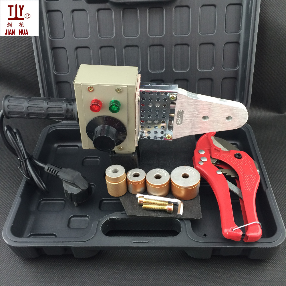 Free shipping with pipe cutter DN16-32mm ppr pipe welding machine welder for welding of plastic tube 220V 600W hot melt machine 50pcs lots free shipping ppr plug ppr material 3 4 bsp thread with oring good quality fast delivery