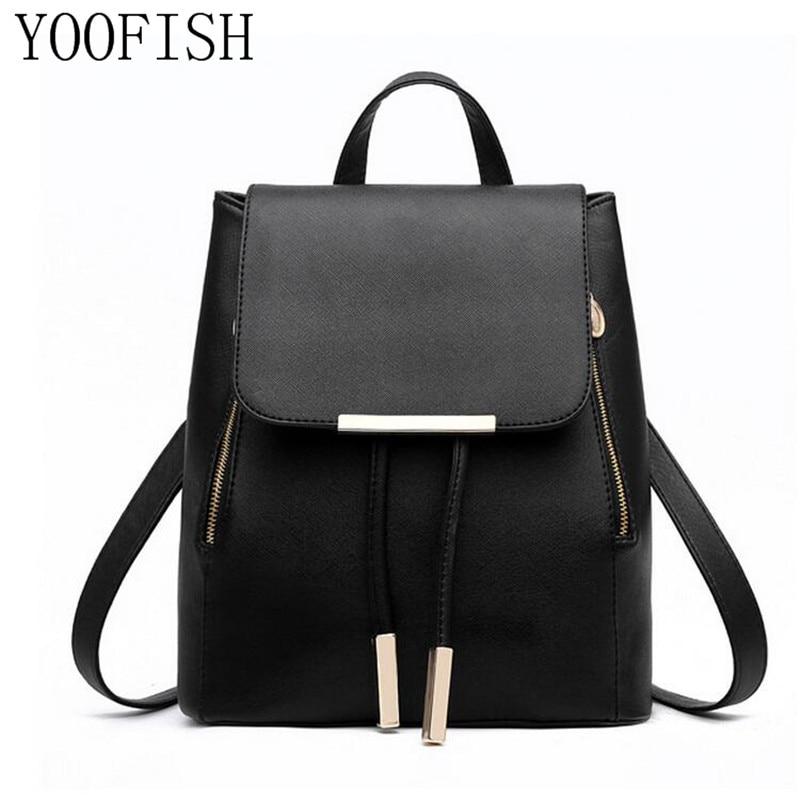 Leather Backpacks Women Fashion Backpack Fresh School Bags Teenagers Mochila Bagpack Woman Travel daypack Back Pack LJ-0622