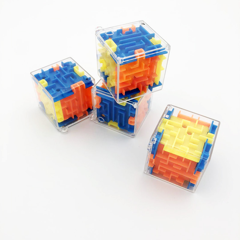 Mini Maze Kids Toys Early Education Puzzle 3D Rolling Beads Rotate Maze Montessori Educational Toys