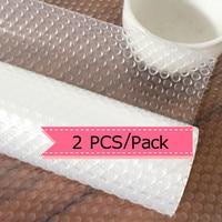 2 PCS EVA Transparent Non Adhesive Cupboard Cabinet Shelf Drawer Liner Non Slip Mat