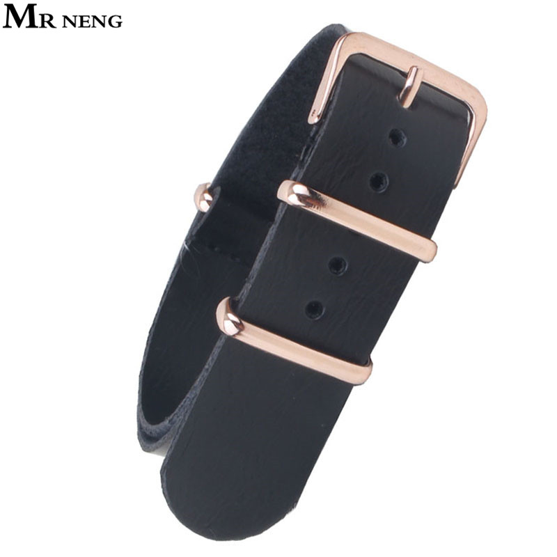 MR NENG 18 20 mm 22mm NATO Black Resin PU Leather Watchbands Men Women Casual Watches Straps Leather Wristwatch Band 18mm Belts 18 mm watchbands men ladies multicolor black red nato nylon army military sports watches straps wristwatch band buckle 18mm
