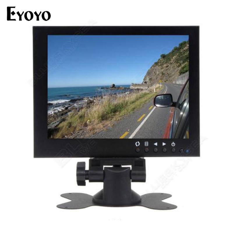ФОТО Eyoyo 7 inch 800*480 CCTV Monitor HD Metal Housing Color TFT LCD Monitor Video Audio VGA For Home CCTV Security DVD PC
