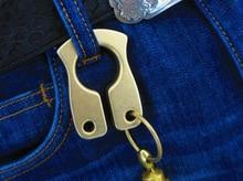 Медь латунь брелок висит пряжки 10 мм толщина, EDC самообороны, инструмент выживания, открытый поездки кемпинг удобный инструмент