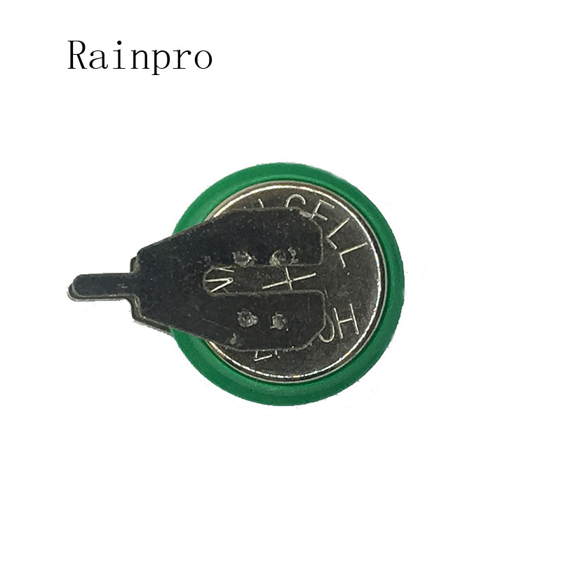 Rainpro 2PCS/LOT 1.2V 40mAh Ni-MH  Ni MH Batteries With Pins  Rechargeable Button Cell Battery