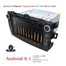 4G android 8.1 lettore dvd dell'automobile Per Toyota corolla 2007 2008 2009 2010 2011 in dash 2 din 1024*600 di gps radio video unità di testa