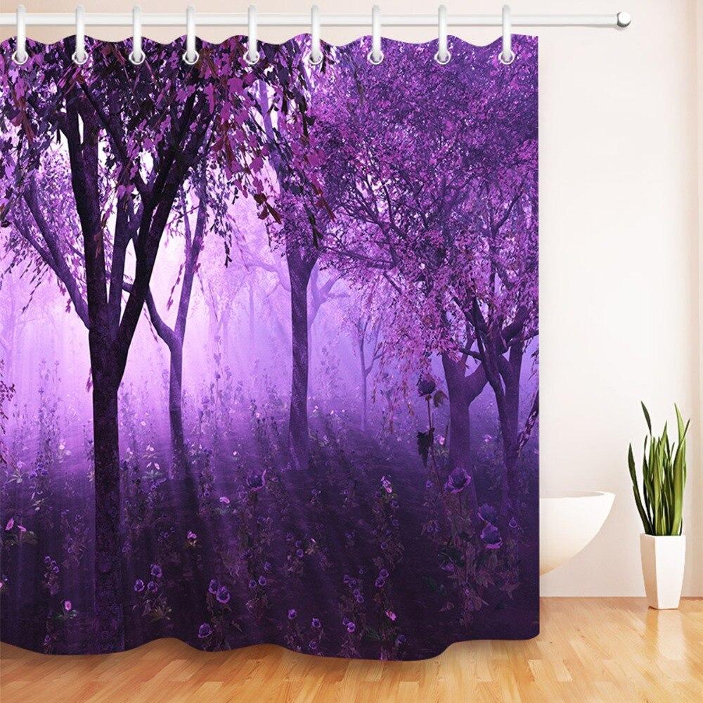 lb 72 39 39 black tree purple lavender waterproof shower curtains floral washable polyester bathroom. Black Bedroom Furniture Sets. Home Design Ideas