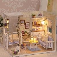 Maquette maison de poupée en bois - Salon 4