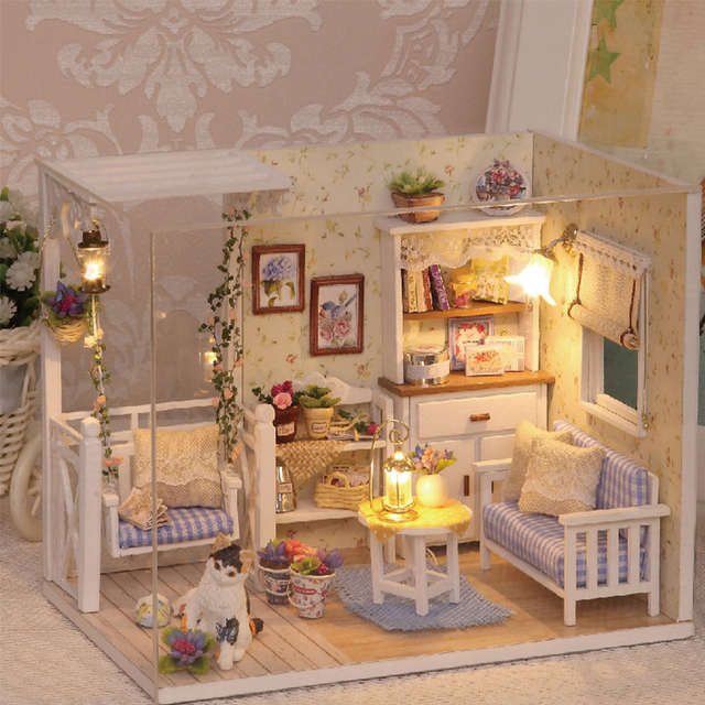 how to build miniature furniture. Doll House Furniture Diy Miniature Dust Cover 3D Wooden Miniaturas Dollhouse Toys For Children Birthday Gifts How To Build