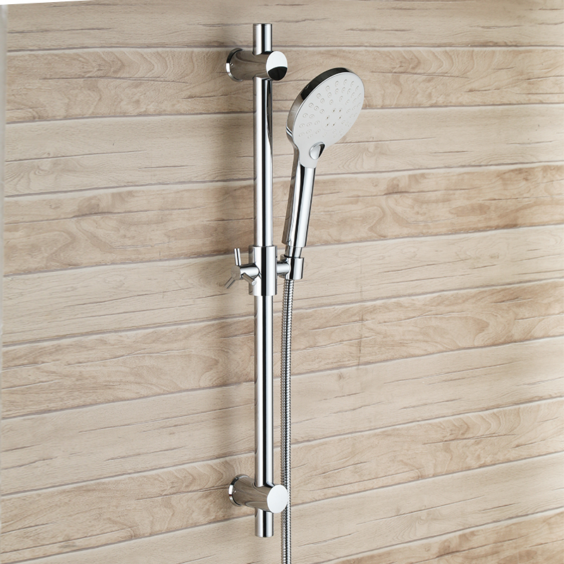 Shower head sets with Bar Stainless Steel Shower Bar Slider with 3 Function Hand Showerhead Adjustable Sliding Bracket Holder