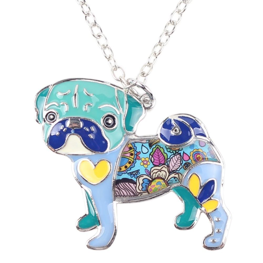 Pug Nose Dog - Fashion Jewelry Enamel Necklace 1