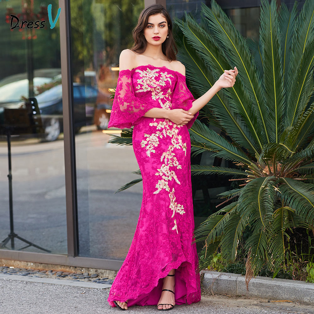 Dressv Cocktail Dress Elegant Off The Shoulder Zipper Up Mermaid Appliques Wedding Party Formal Dress Trumpet Cocktail Dresses