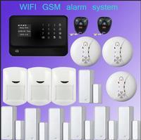 433 МГц многоязычный GSM wifi сигнализация systeem беспроводной домашний охранный охранник wifi приложение будильник датчик управления умный компле