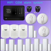 433mhz Multilingual  GSM wifi alarm systeem Wireless Home Security Intruder wifi alarm APP control sensor smart  home alarm kit