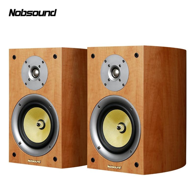 Nobsound VF301 Two Way Wood 100W Bookshelf Speakers 2 0 HiFi Column Sound Home Professional speaker