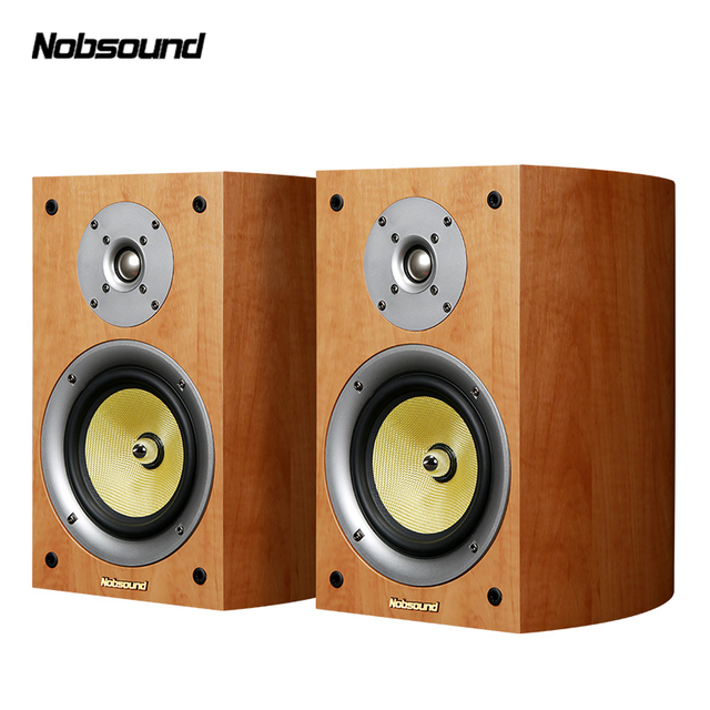 Nobsound VF301 Two Way Wood 100W Bookshelf Speakers 2.0 HiFi Column Sound Home Professional speaker