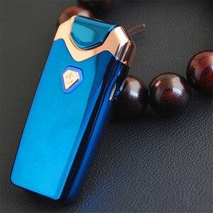 Image 5 - Nuevo Mechero con truenos USB mechero electrónico recargable de plasma del cigarrillo doble arco aparatos a prueba de viento de pulso Palse para regalo de hombres
