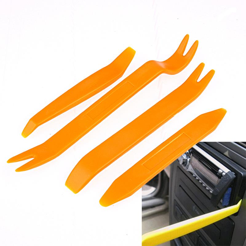 4Pcs Removal Tool tire repair kit Auto car tyre repair kit Pry Screw Cap Panel Repair Kit Set Radio Door Trim Dash Remover Tools