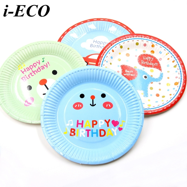 12PCS Paper Plates Disposable Plates For Kid Birthday Party Decoration Cake Holder Home Christmas Party Table  sc 1 st  AliExpress.com & 12PCS Paper Plates Disposable Plates For Kid Birthday Party ...
