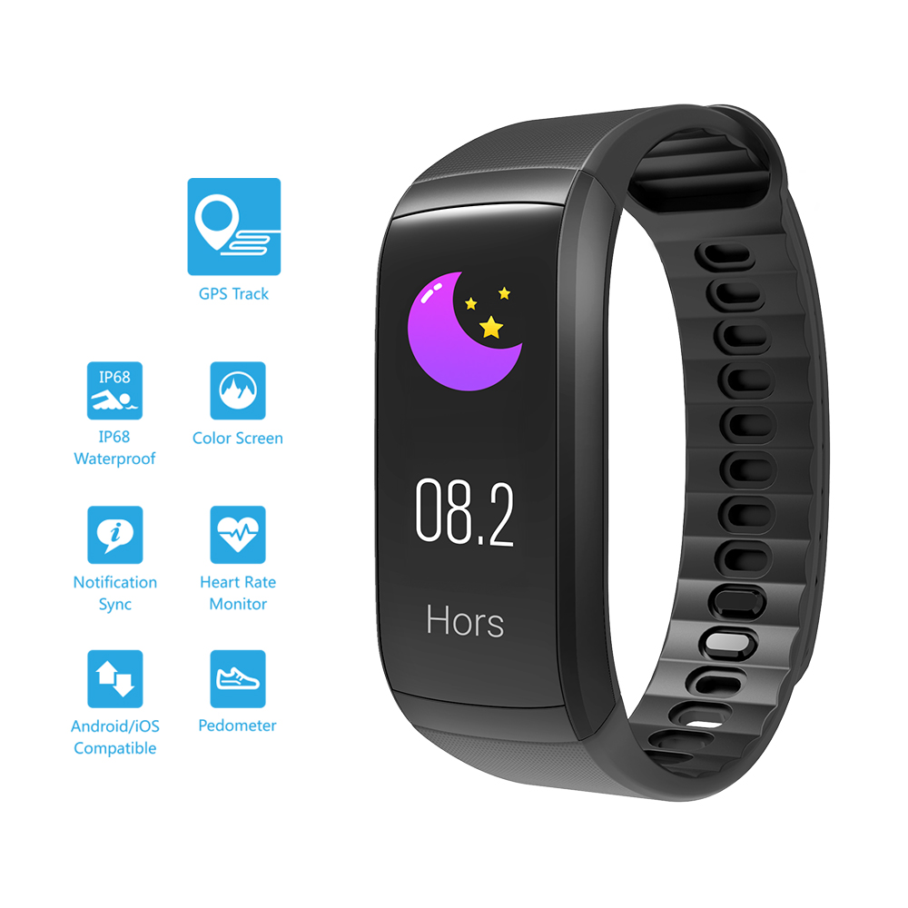 Smart watch sports Bracelet TFT Waterproof GPS BT Pedomter Heart Rate  Monitoring Multi-Sport Modes watch for Android / iOS