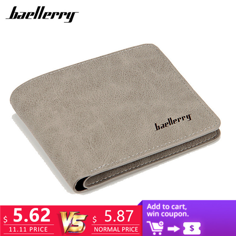 Baellerry 2017 men wallets mens wallet small money purses Wallets New Design Dollar Price Male Wallet Purse with zipper Coin Bag new arrive lovely kids zipper design zelda wallet pu cion purse the game theme wallets god of war dollar price with cion zipper