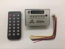 High Quality Universal Portable LED 12V Car Travel MP3 Player Bluetooth Decoder Board Remote Control RC FM Radio USB SD AUX Set