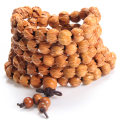 High Quality Carved Lotus Hand String Wood Handmade 108 Twining Buddha Mahogany Prayer Beads Mala Bracelet Women Men Jewelry