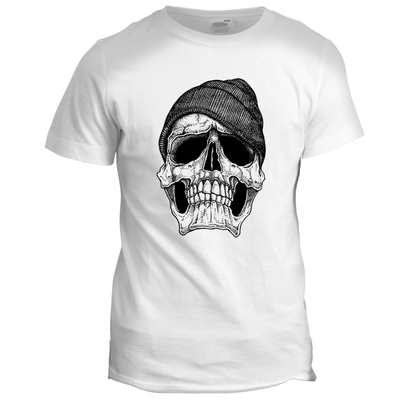 2018 Hot sale Fashion Mens Dope Skull Tee Inspired Motorbike Biker Tattoo Tee shirt
