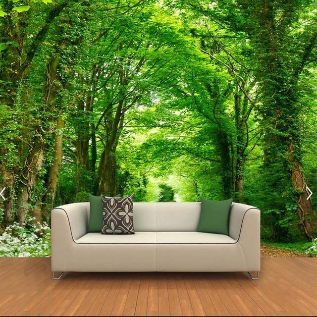 3d Photo Papier Peint Vert Arbre Nature Paysage Papiers Peints Peinture Murale Personnalis E