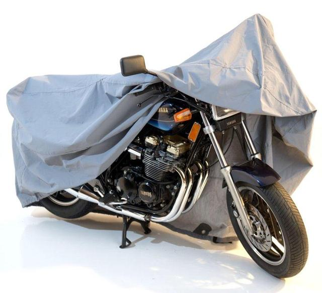 Silver XXXL Size 295*110*140cm Motorcycle Covering Outdoor Waterproof Scooter Cover UV Dust Rain Protector Touring 400cc 1100cc