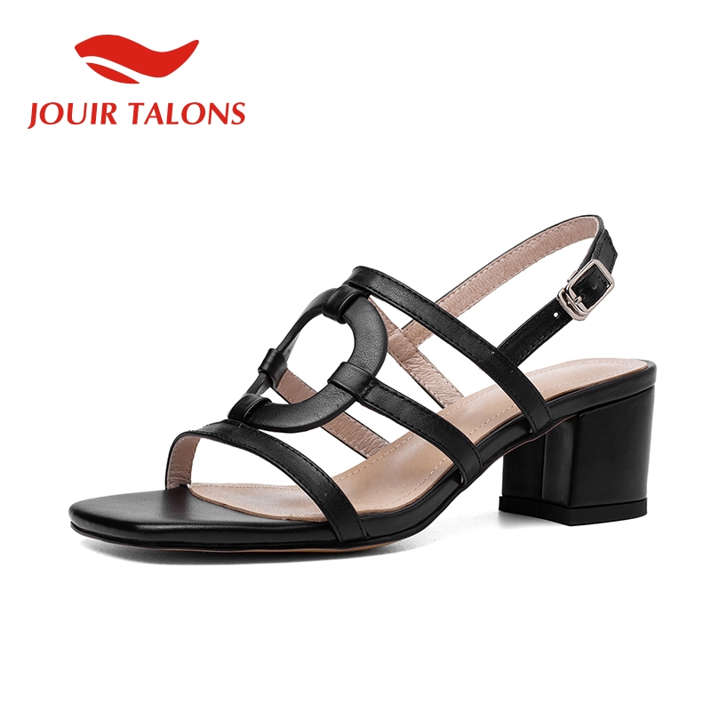 JOUIR TALONS Brand New INS Hot Cow Leather Sandals Women Summer Ankle Strap Sheepskin Insole Sandals