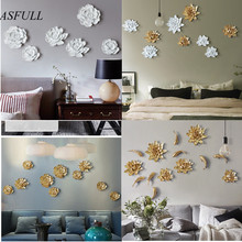 European creative resin flower mural wall decorations stereo TV background wall soft decoration crafts homedecoration accessoris