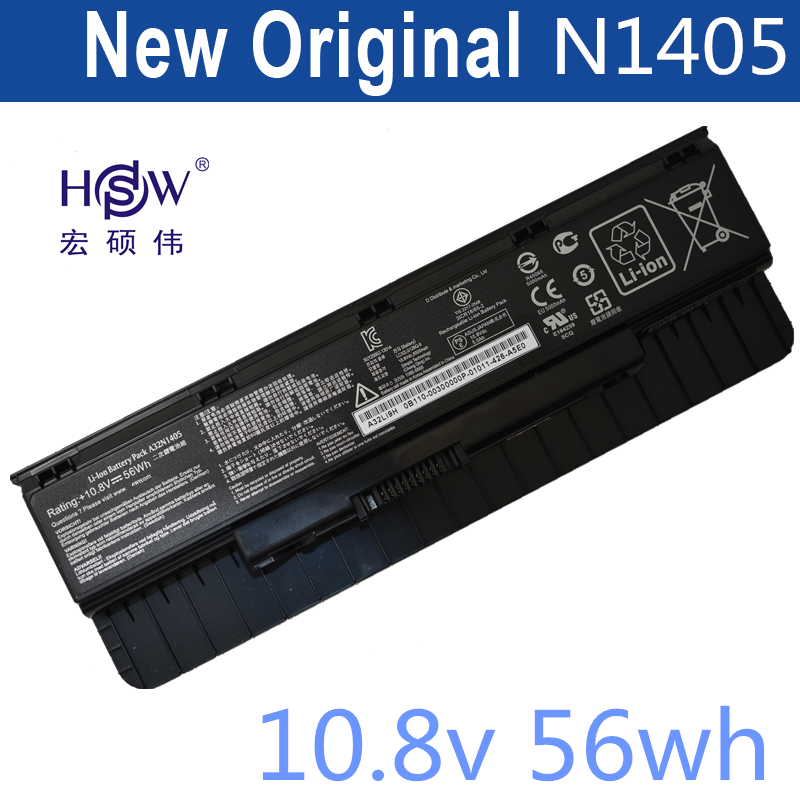 HSW genius laptop battery A32N1405 56WH For Asus G551 G551J G551JK G551JM G771 G771J G771JK N551J N551JW N551JM N551Z