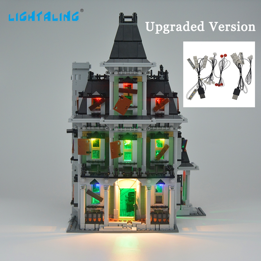 Светодиоден комплект за осветяване на светлината за обитаван от духове къща Подобрен / оригинален светлинен съвместим с 10228 и 16007
