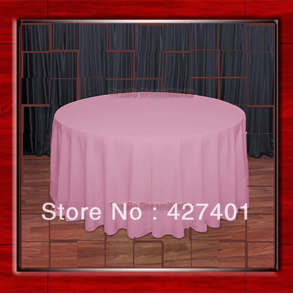 108R Pink 210GSM Polyester plain Table Cloth For Wedding Events & Party Decoration(Factory Direct Sales)