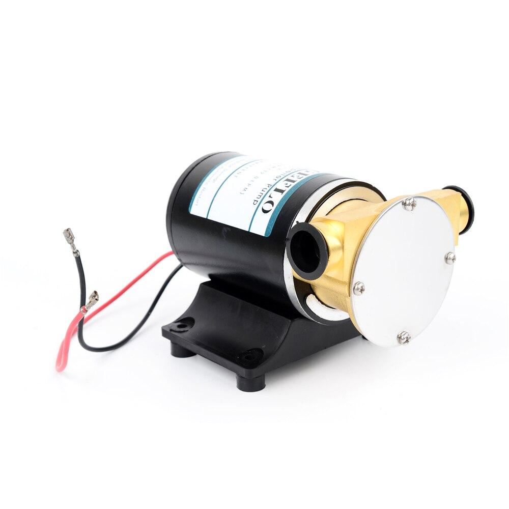 цена DC 12V/24V 6L/min Electric Self-priming Flushing Pump , Deck Wash Engine Cooling Flexible Impeller , Water Transfer,12 V 24 Volt