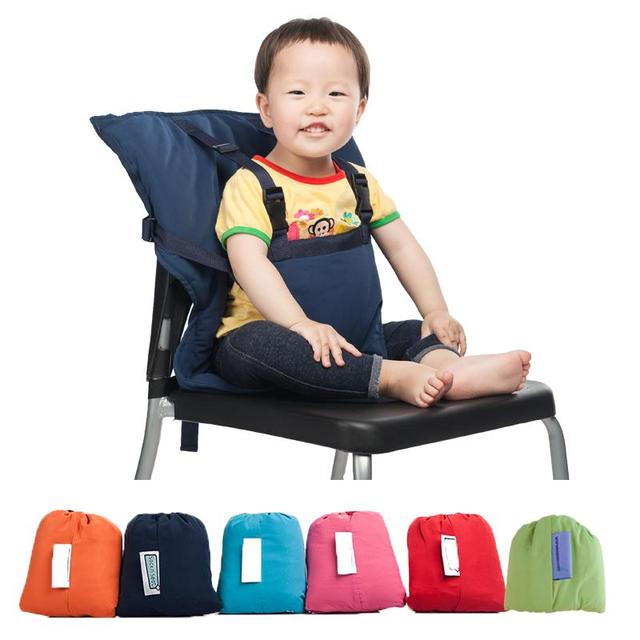 Portable Baby Seat Kids Feeding Chair for Baby Child Infant Safety Belt booster Seat High feeding Chair 6 Random colors