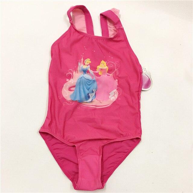 443c414be54e retail 2017 Baby Girls Swimwear Princess Swimsuit Character Children ...