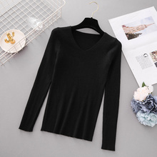 Autumn V Neck Knitted Pullover